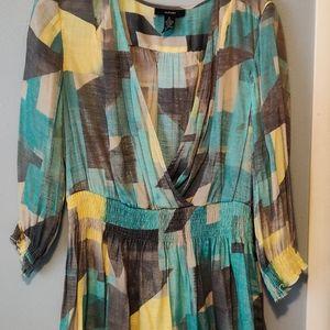 Never worn Alfani color block blouse Sz L